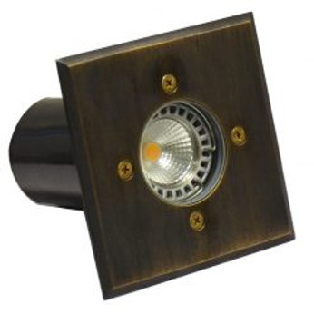 Lumena Cubik Solid Brass (Rustic Bronze) Recessed Light - (12v plug & play)