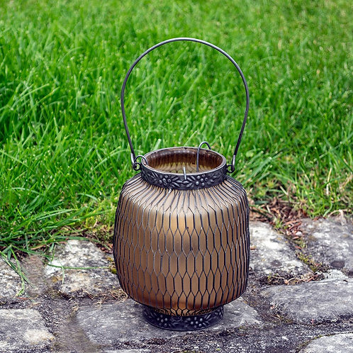 Honeycomb Lantern - Amber