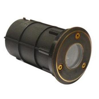 Lumena Decimina – 12v Recessed Deck Light 66mm – Solid Brass - 5m Open End