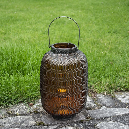 Honeycomb Lantern Large - Amber