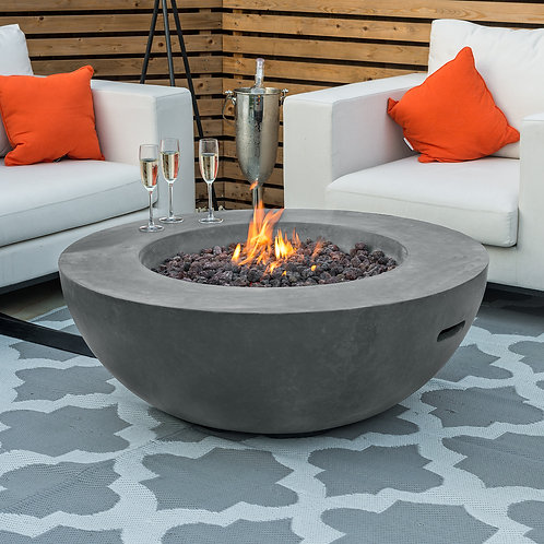 Brisbane Round Gas Firepit (Multiple Colours Available)