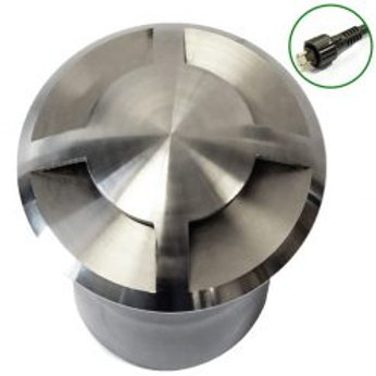 Lumena QuadMarka Stainless Steel In Ground/Step Light 4 way – (12v plug & play)