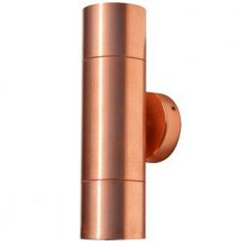Lumena Hilospot – Outdoor Twin Spotlight – Natural Copper (12v)