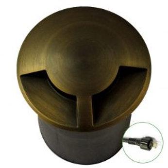 Lumena DuoMarka – 12v Plug & Play 2 Way Recessed In-Ground Light – Brass