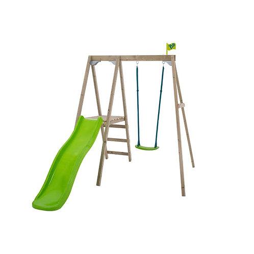 TP Forest Multiplay Single Wooden Swing & Slide Set - FSC Certified