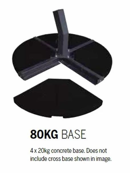 80kg (4x 20kg) cantilever concrete base plates