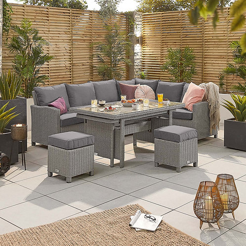Deluxe Extending Ciara (Right Hand) Corner Dining Set