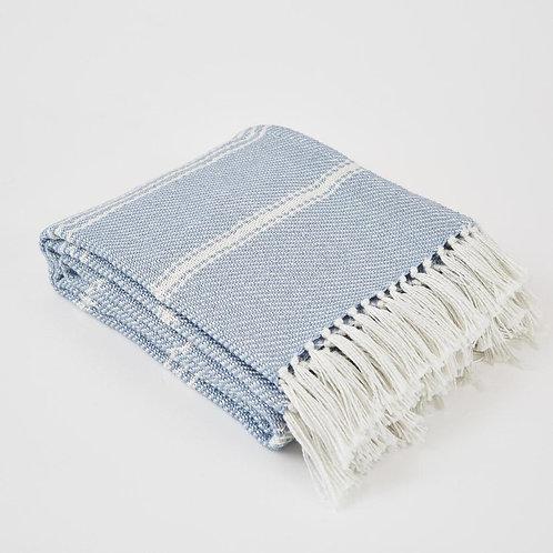 Weaver Green Blanket - Oxford Stripe - Lavender