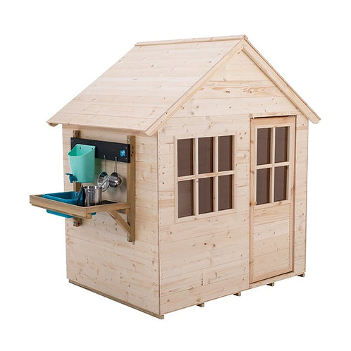TP Hideaway Wooden Playhouse with Mud Kitchen - FSC Certified