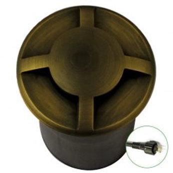 Lumena QuadMarka Brass Recessed In-Ground Light 4 way - (12v Plug & Play)