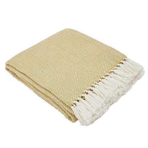 Weaver Green Blanket - Diamond - Gooseberry