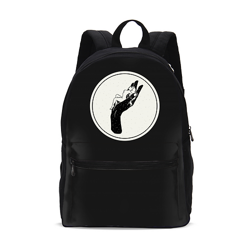 In Your Hands Small Canvas Backpack