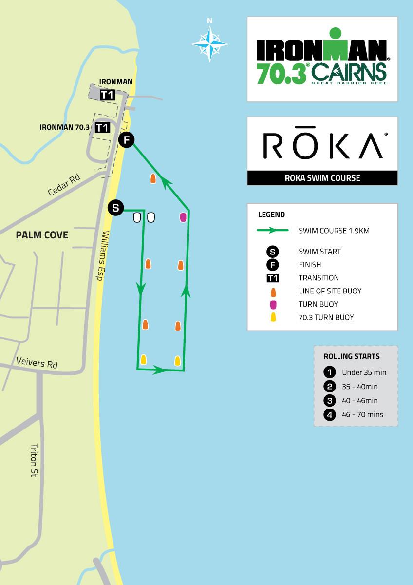 2020 Cairns 70.3 Swim Course