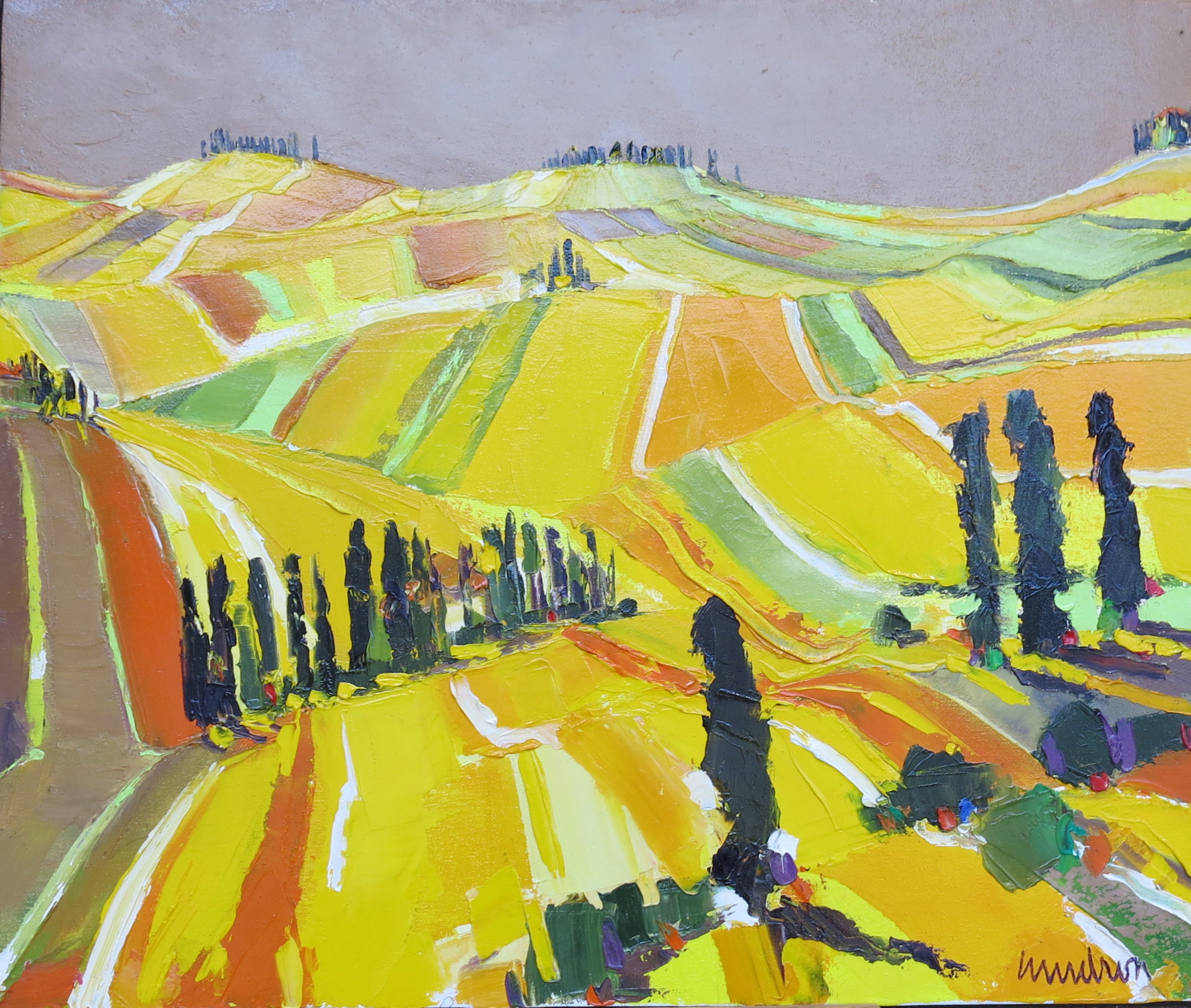 Vers le val d'Orcia