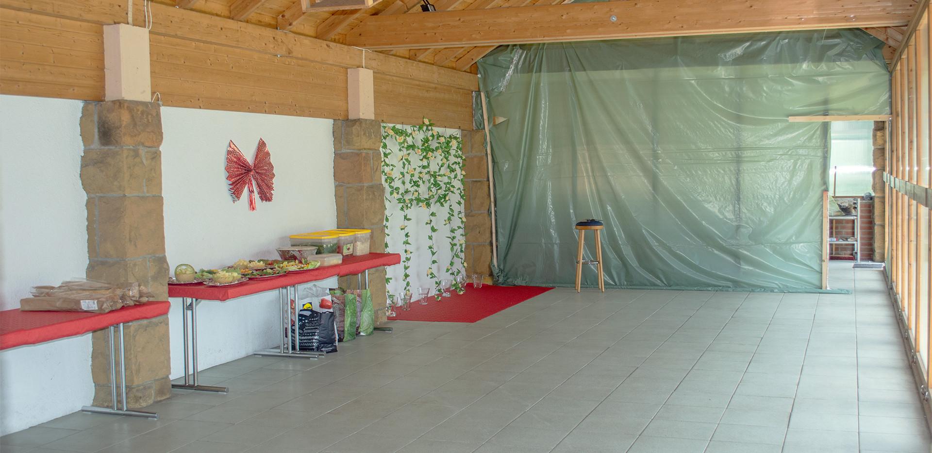 Der Terrassenbereich