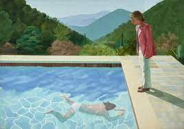 DAVID HOCKNEY. Connu pour ses collages de photos et ses peintures de piscines