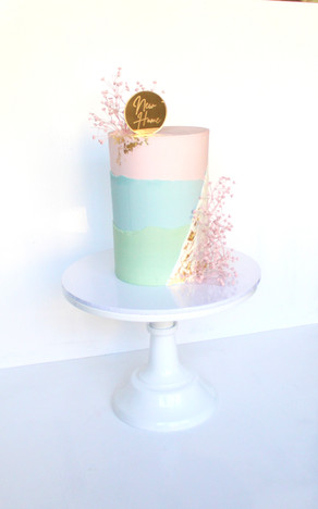 Block colour New Home Cake