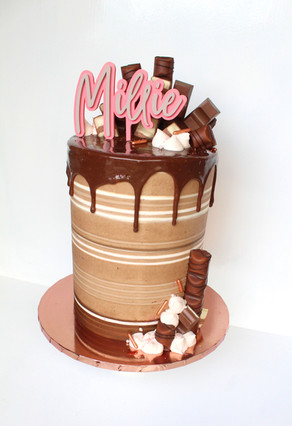 Kinder Stripe Cake
