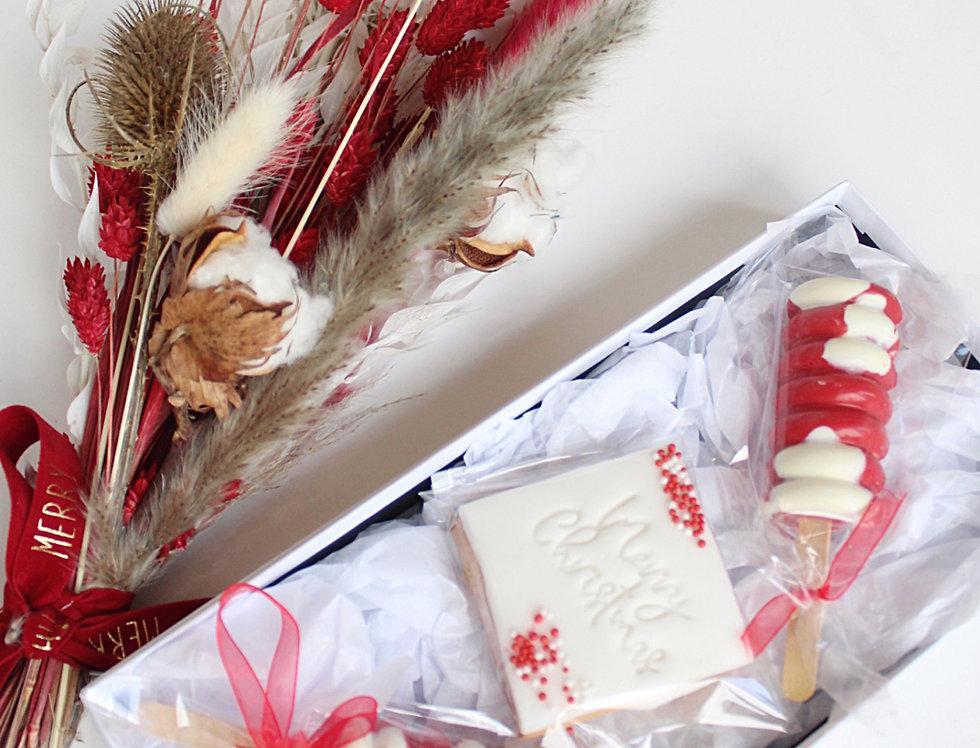Christmas Dried Flowers & Sweet Treats Gift