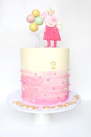 Buttercream Peppa Cake