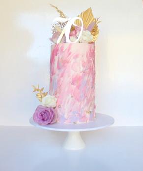 Pink Textured Buttercream