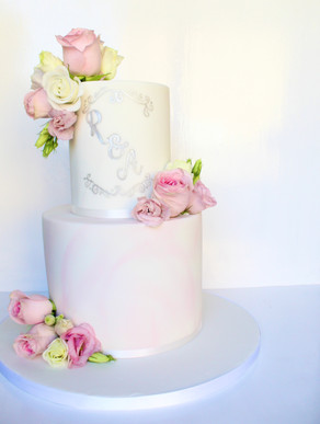 Two Tier Pink Fondant