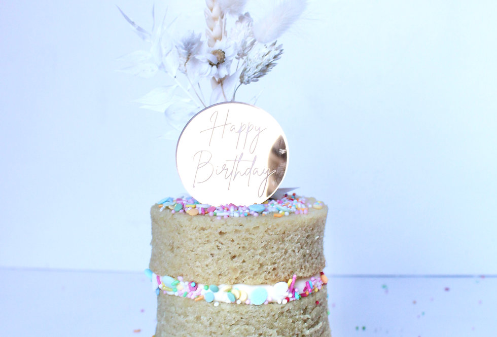 Vegan Vanilla Mini Post-able Cake