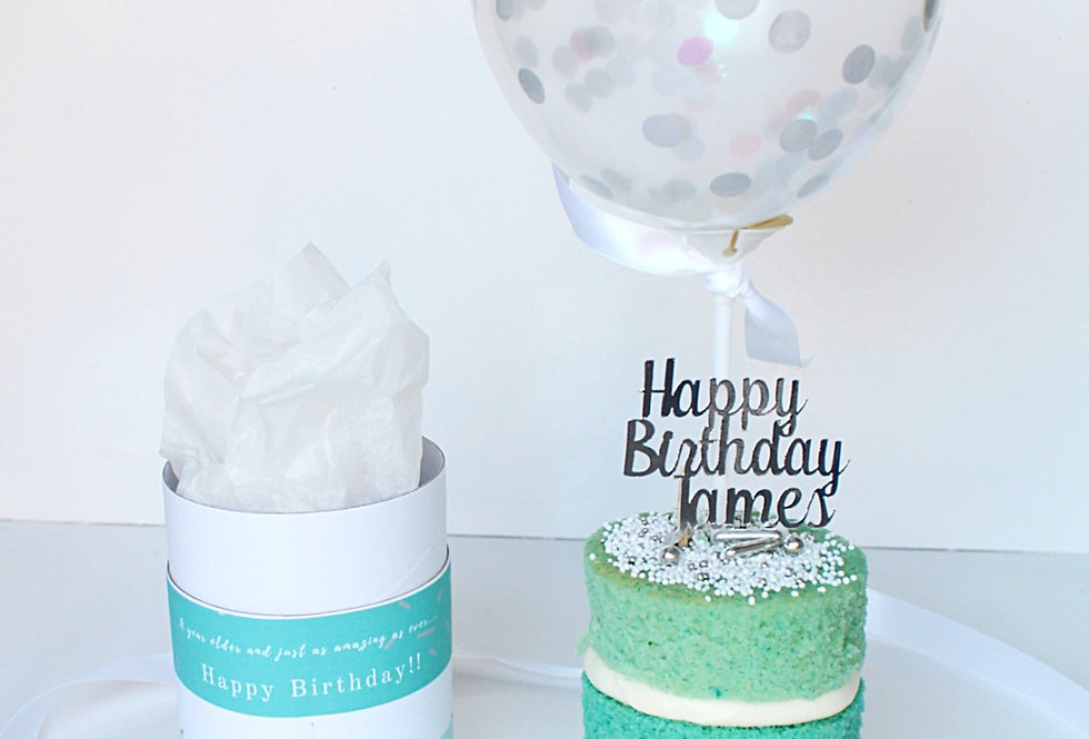 Teal Ombre Mini Post-able Cake