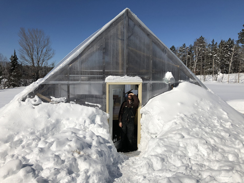 Seed Starting Greenhouse Buried in Snow