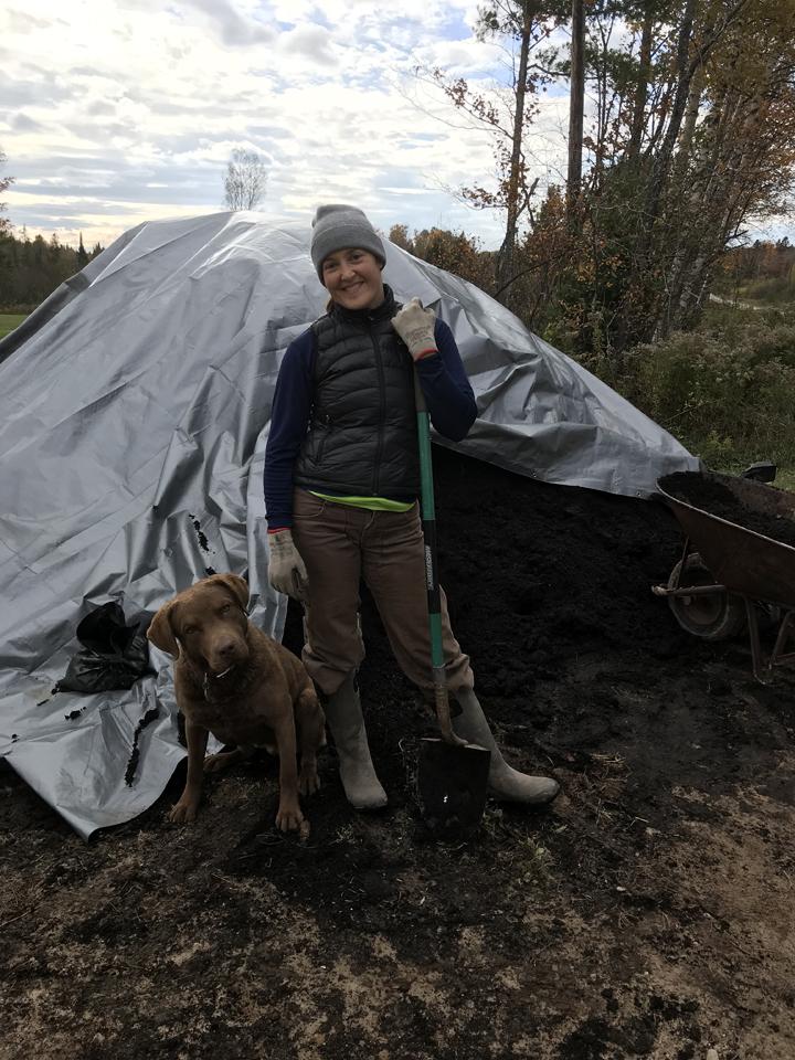 Allison_CompostShoveling