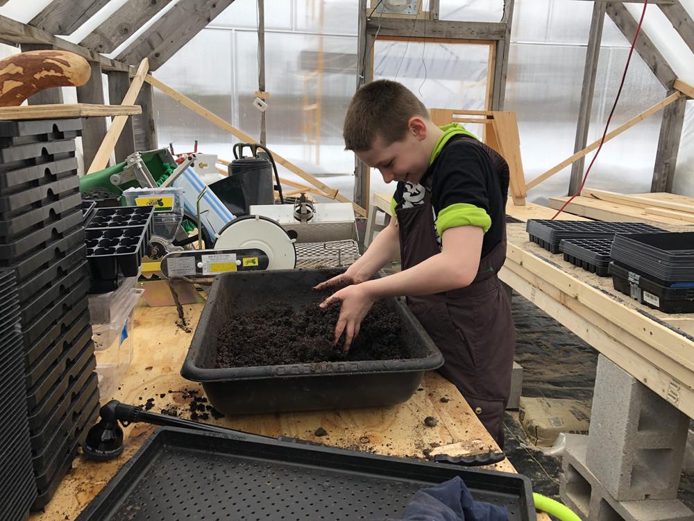 Prepping for soil blocking