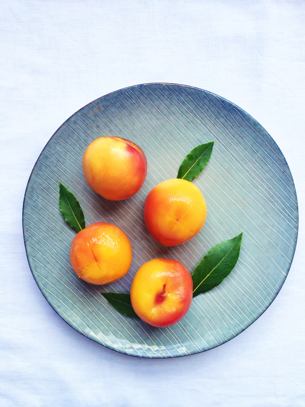 Poached Peaches - Sky Meadow Bakery blog