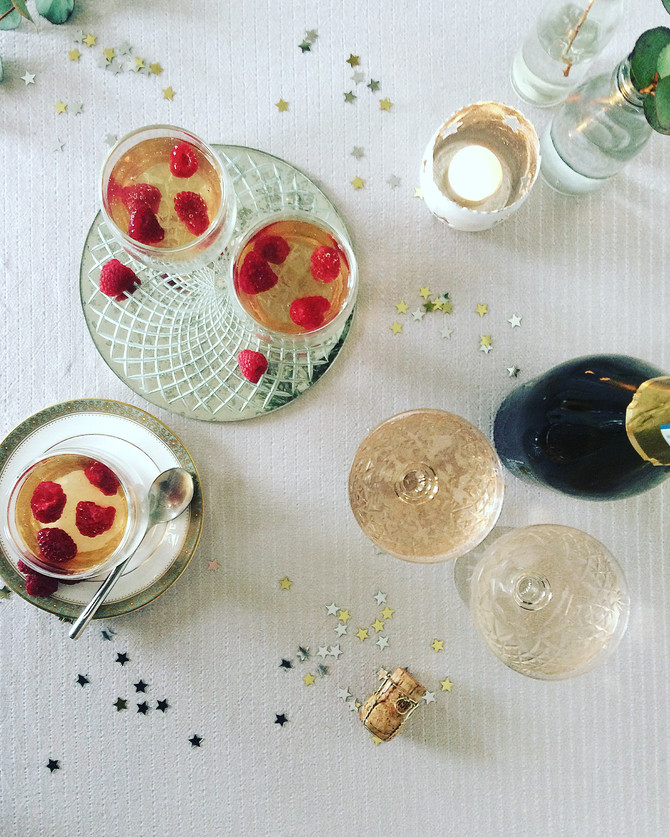 New Year's Eve Prosecco Jellies