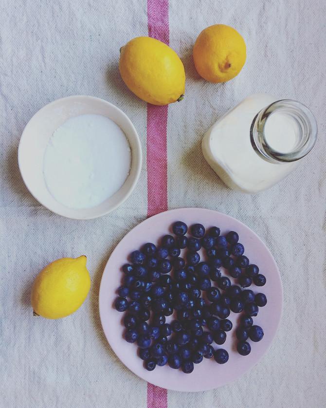 Citrus Fresh Lemon & Blueberry Possets