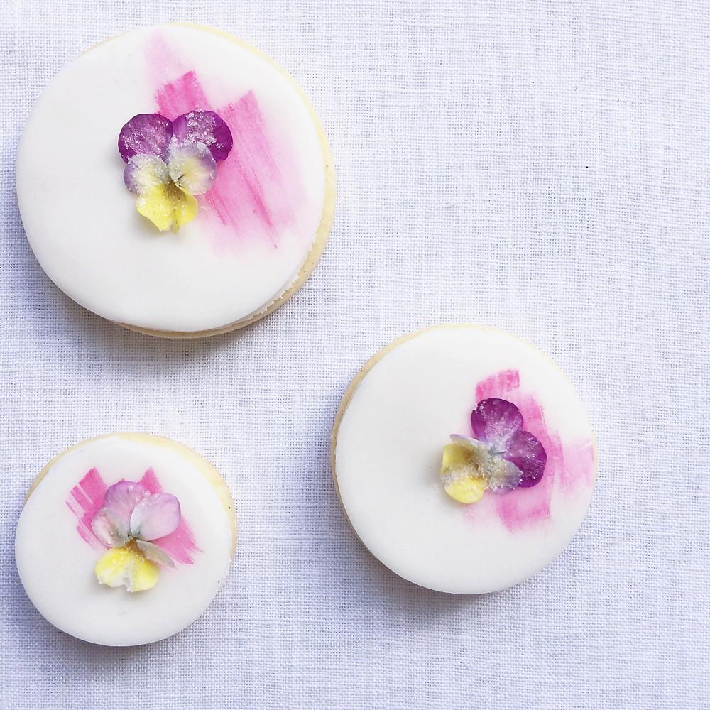 Edible Flower Biscuits - Sky Meadow Bakery blog