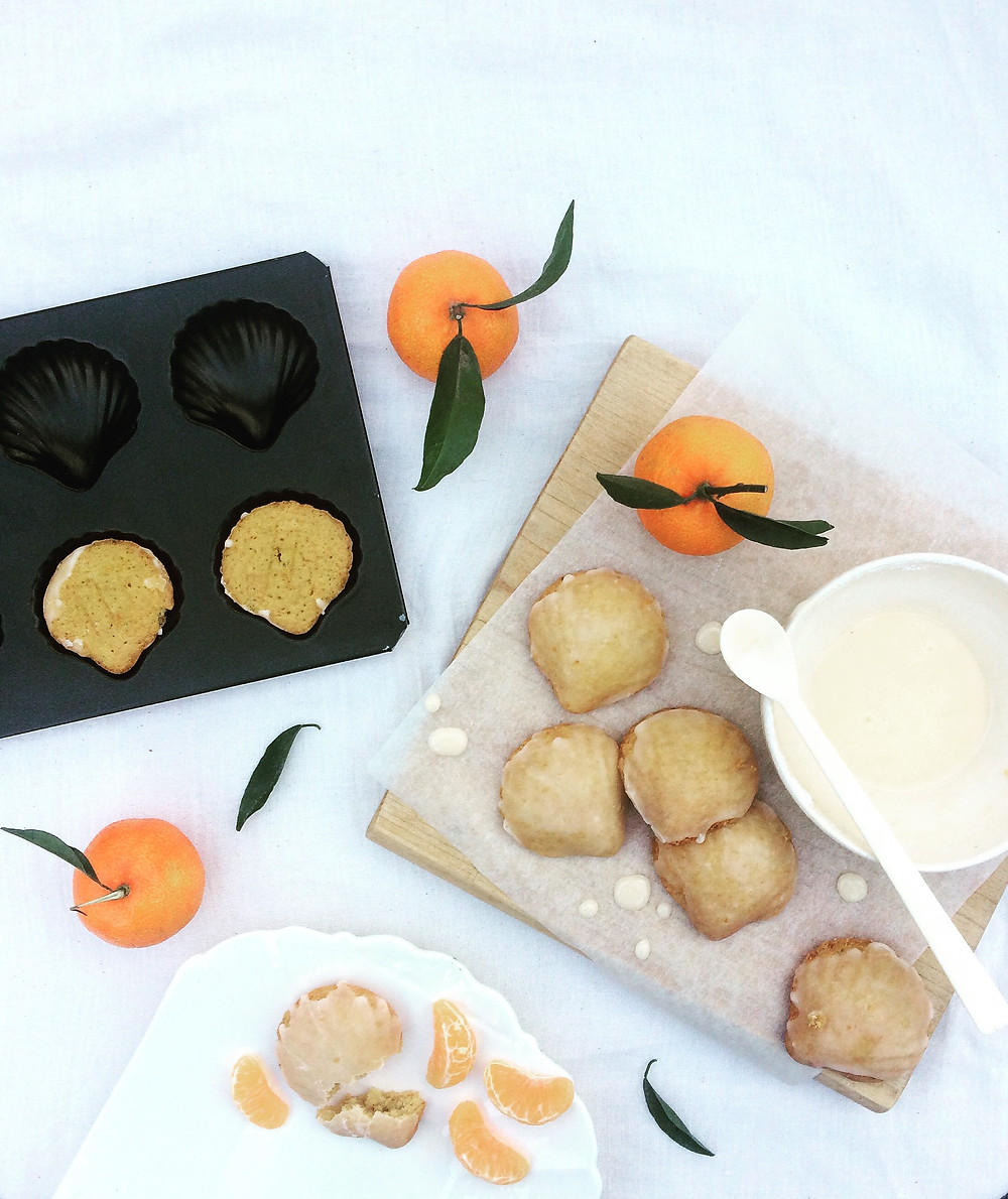 Clementine Spiced Madeleines - Sky Meadow Bakery Blog