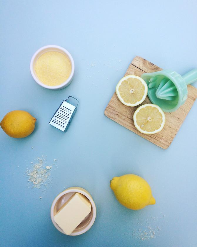 Lemon Polenta Cake Summer Trifle