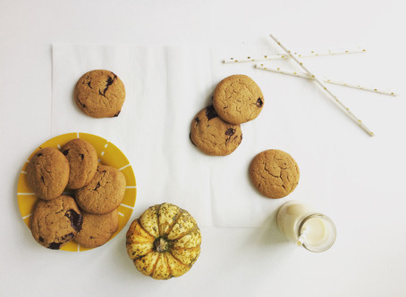 Ginger and Dark Chocolate Chunk Biscuits