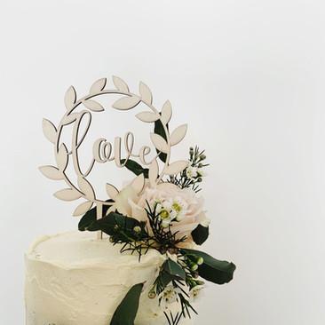 Love Topper Wedding Cake
