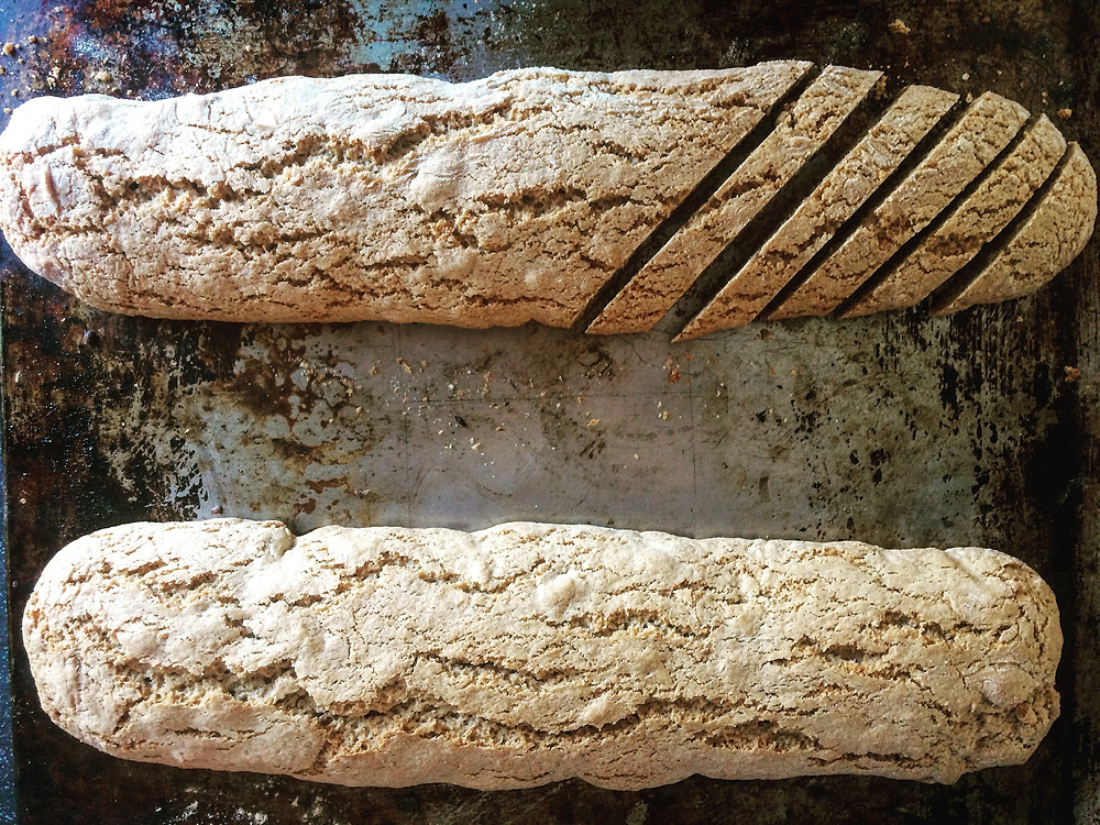 Slicing Biscotti - Sky Meadow Bakery blog