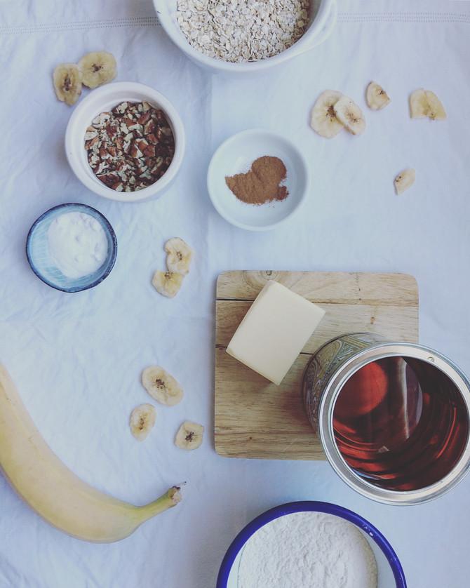 Banana Pecan & Oat Biscuits
