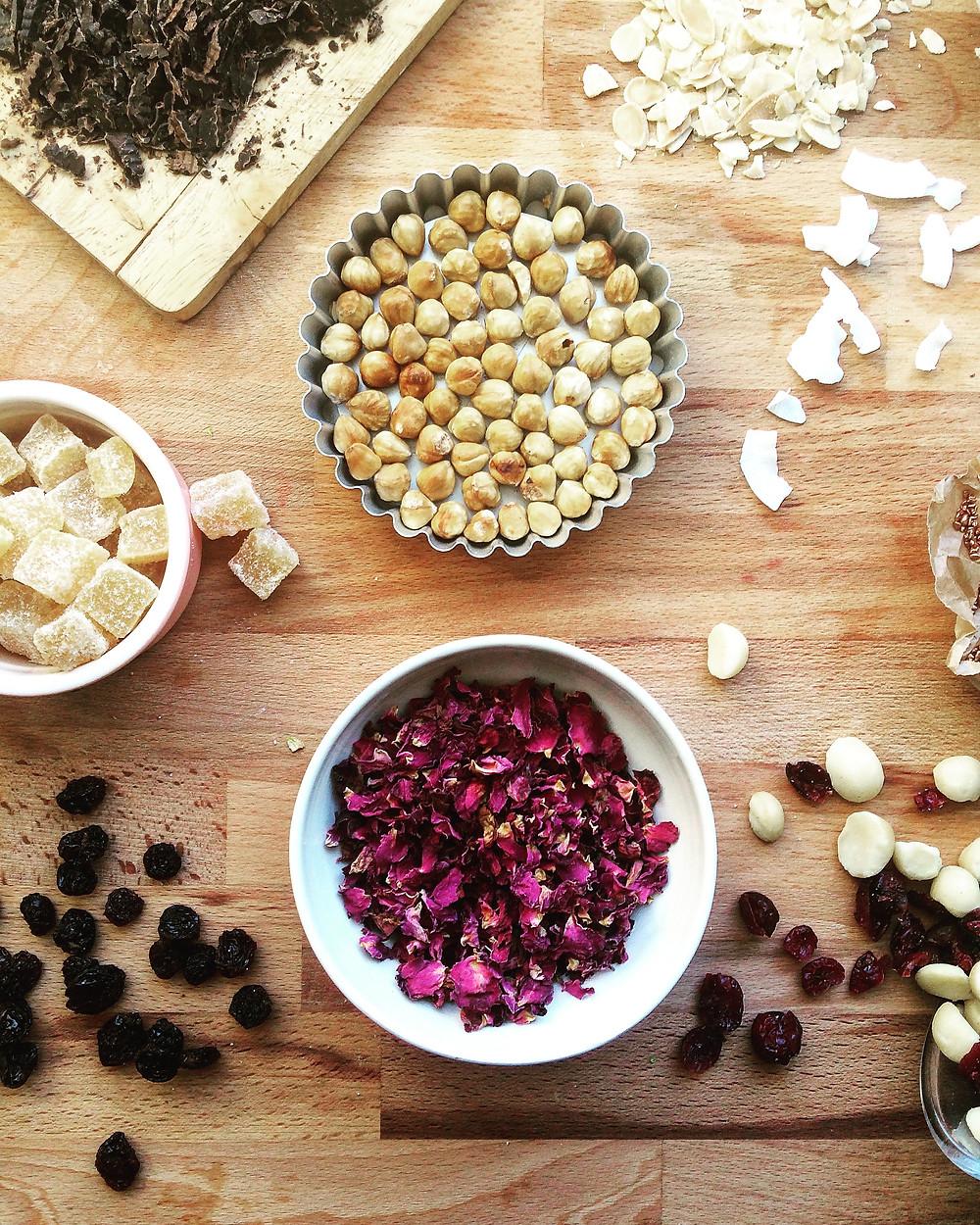 Mendiant Ingredients - Sky Meadow Bakery blog