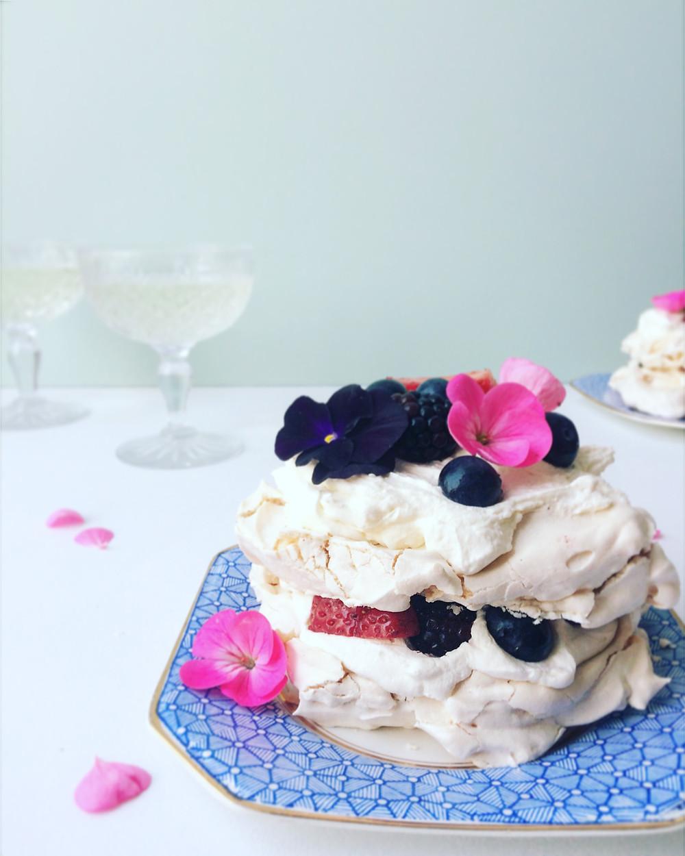 Summer Berry Pavlova - Sky Meadow Bakery blog