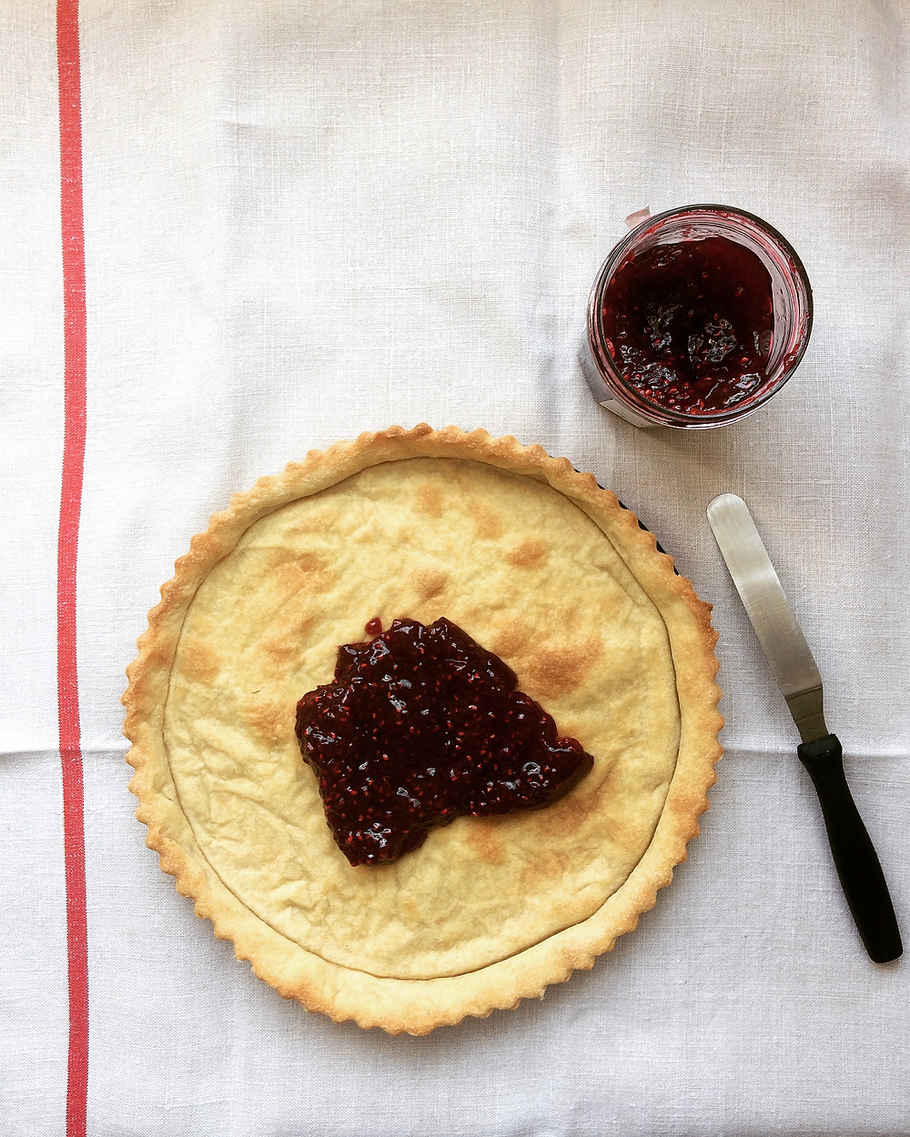 Raspberry Conserve Filling - Sky Meadow Bakery blog