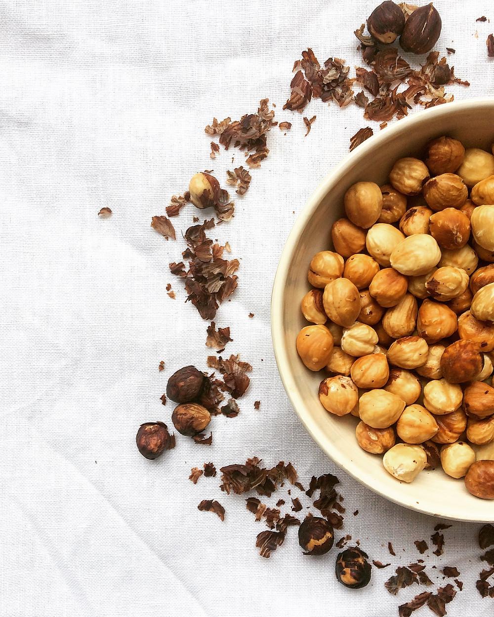 Roasted Hazelnuts - Sky Meadow Bakery blog