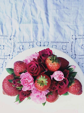 Berry and floral crown decorations