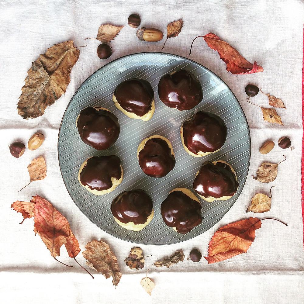 Autumn Profiteroles - Sky Meadow Bakery blog