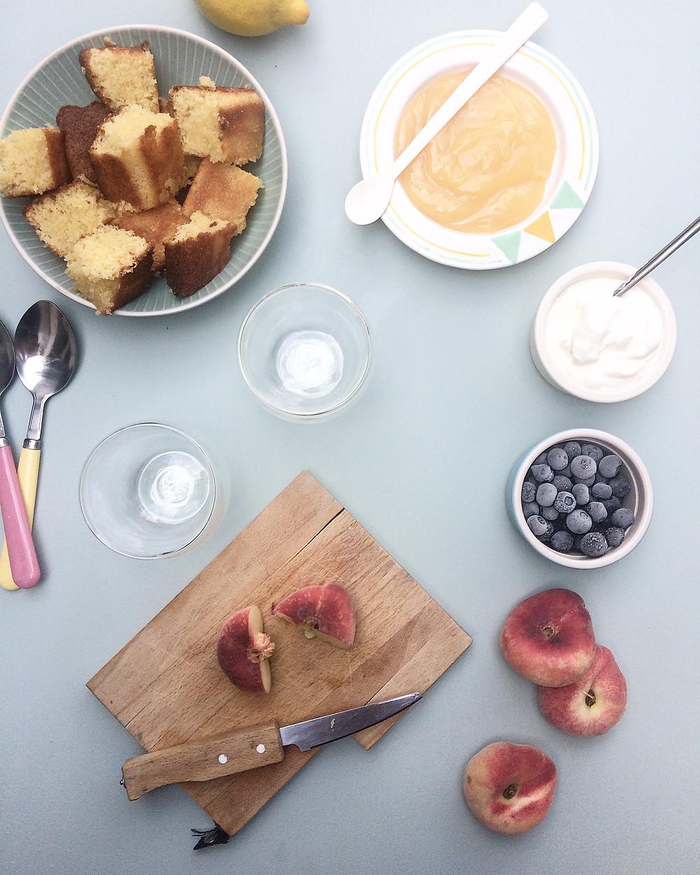 Lemon Polenta Cake Summer Trifle - Sky Meadow Bakery blog