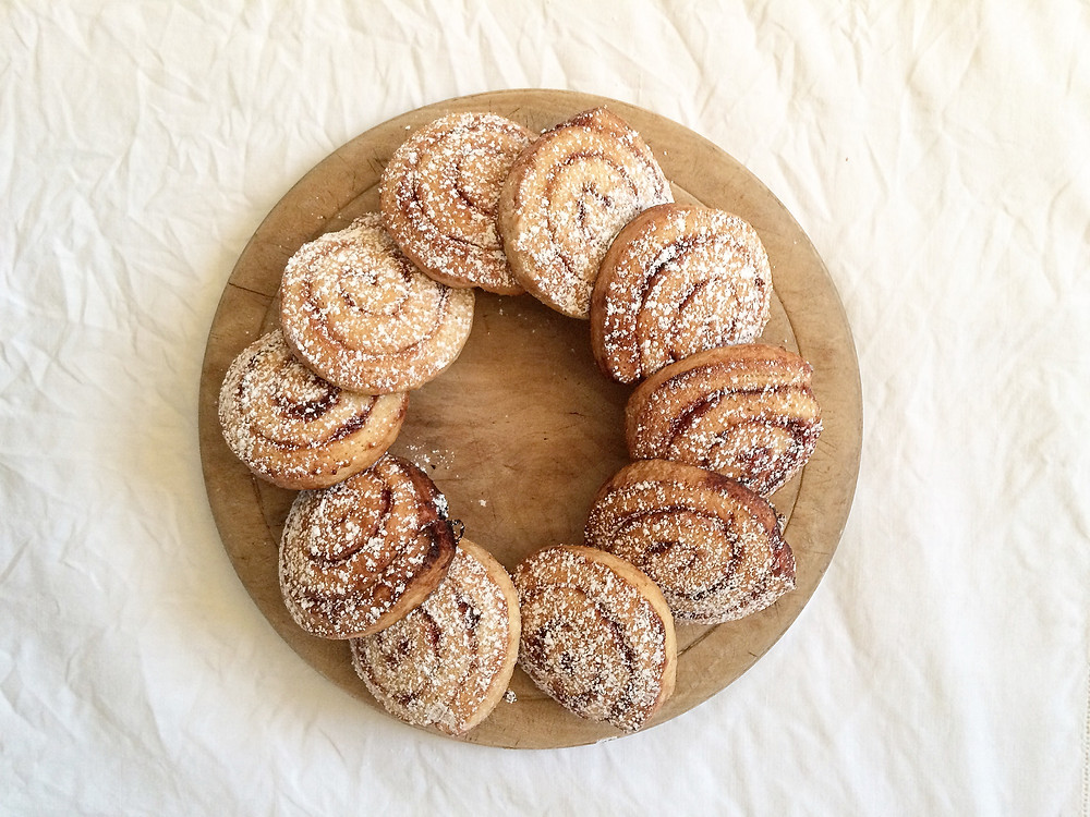 Cinnamon Swirl Shortbread Biscuits - Sky Meadow Bakery blog