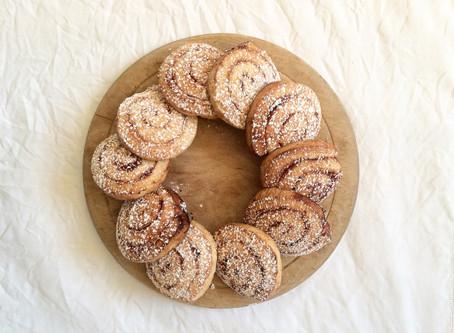 Cinnamon Spiral Shortbread Biscuits